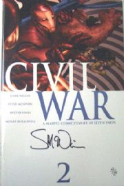 Civil War #2 Dynamic Forces Signed Steve McNiven DF COA Ltd 150 Marvel comic book